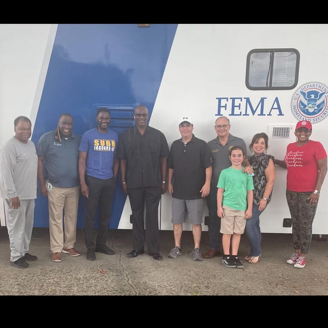 Local officials, the Louisiana Workforce Commission, FEMA, and the American Red Cross worked together Sept. 12 in Donaldsonville.