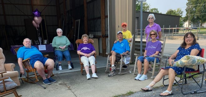 """Members of the St. John United Church of Christ mission committee gathered Saturday to show their support for the late Emma Welp. Marlene Wilmert, the great-aunt of Welp, said the nearly 7 year old fought a courageous battle with cancer. """"She was very brave and you never heard her complain,"""" said Wilmert.  """"Emma had such a loving and giving spirit.  She never wanted to see anyone left out - wanting to put others first.  She loved, loved her ballet class, loved school and loved to read,"""" continued Wilmert.   """"Even during her radiation treatments she would attend her 1st grade class at Parkside Elementary, Normal IL.  She also enjoyed softball.  Of course, all these activities were more special as she shared them with her twin sister, Abby.  They were each other's best friend, said Wilmert. """"Emma handled her struggles with the DIPG cancer with dignity and grace for a 6 year old child.  In memorializing Emma, her school is designating the 1st Monday of each month to """"sprinkling acts of kindness"""".  The gathering was an fundraising opportunity to help the family with medical expenses."""