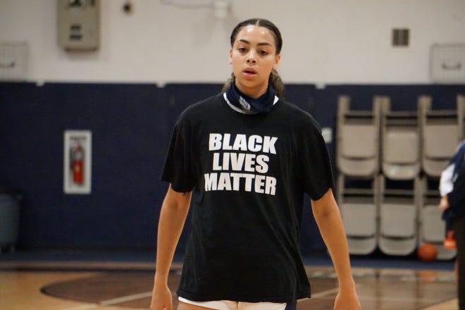 Jordana Codio and her American Heritage teammates wore Black Lives Matter shirts before games last season.