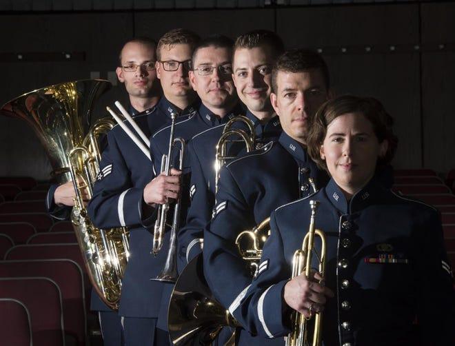 The U.S. Air Force Top Flight Bandwill perform Sept. 15 as part of the Music by the Sea concert series.
