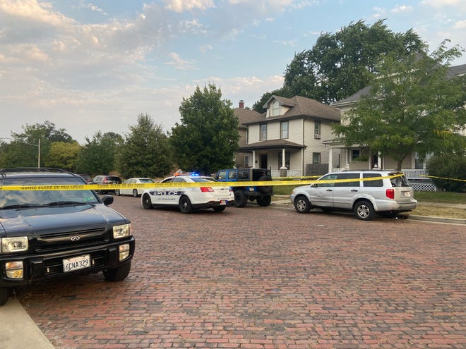 Police investigate after a large party ended in a fatal shooting Sunday morning on East Washington Street in South Bend.