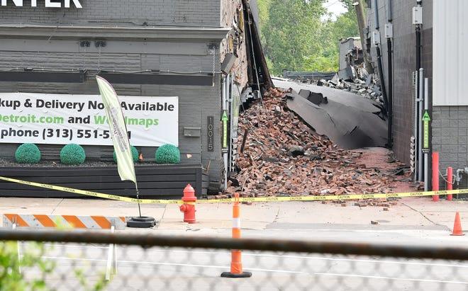 Stash Provisioning Center endommagé par l'explosion apparente.  La scène d'une explosion près de Dearborn Street et West Fort Street à Detroit le 12 septembre 2021. L'explosion a eu lieu le 11 septembre entre 20h et 20h30.