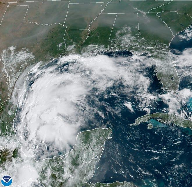 Tropical Storm Nicholas as of 10 a.m. Sunday, September 12, 2021.