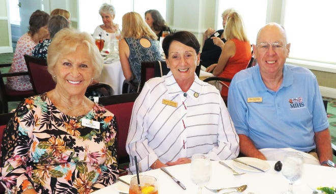 """From left, Bonnie Bozzo, Pat Rutledge and Ron Rutledge. """"Just Friends"""" met at the Yacht Club in September."""