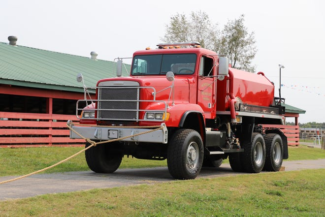 Henderson Fire Departments Tanker sits at the ready for Baxter County's first responders. The tanker weighs approximately 30,000 pounds when empty.