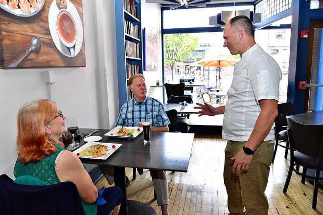 Co-owner and Chef Sean Arnold is shown at The Left Bank in downtown York City, Saturday, Sept. 11, 2021. Dawn J. Sagert photo