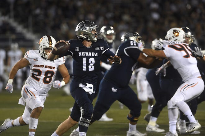 Nevada's Carson Strong has completed 68 percent of his passes so far this season.