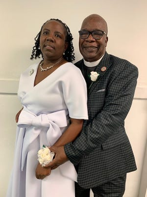 Pastor Jimmy Wilson, shown with Mother Felicia Wilson, was installed as the new pastor for Greater Mount Zion Primitive Baptist Church on Aug. 22, 2021.