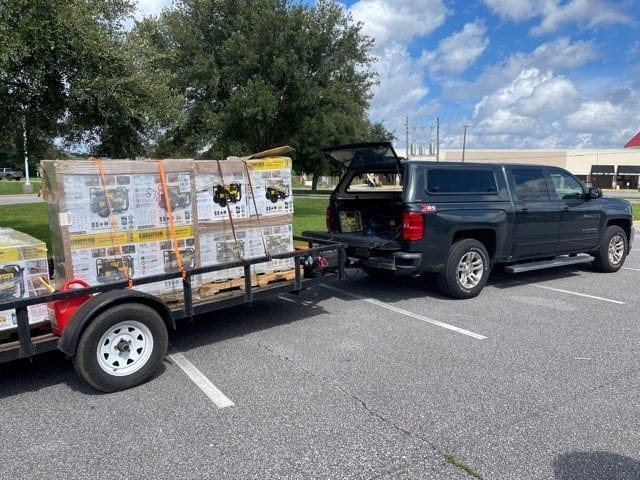 Gulf Winds Credit Union donated $15,000 worth of supplies for Hurricane Ida victims.