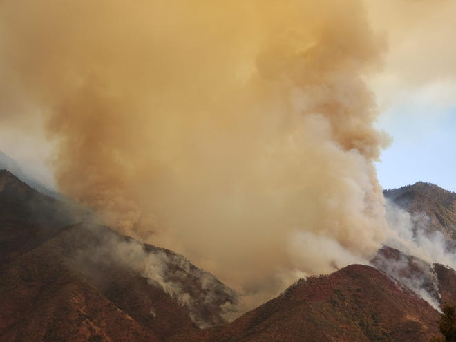 The KNP Complex was ignited on Thursday, September 9, 2021 in the Sequoia and Kings Canyon national parks.