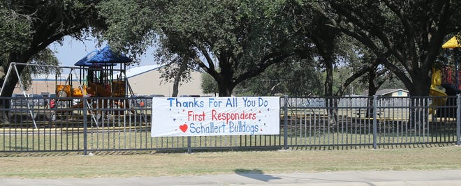Schallert and Noonan Elementary students held a first responder honok parade on Friday, Sept. 10 to commemorate the 20th anniversary of 9/11.