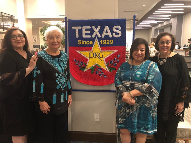 Beta Pi Chapter of the Delta Kappa Gamma Society International was represented at the 92nd Texas State (TSO) Convention. Pictured are (LtoR) Adela Navarro, Elva Garcia, Beta Pi President Nora Lopez and Mellie Smithwick.