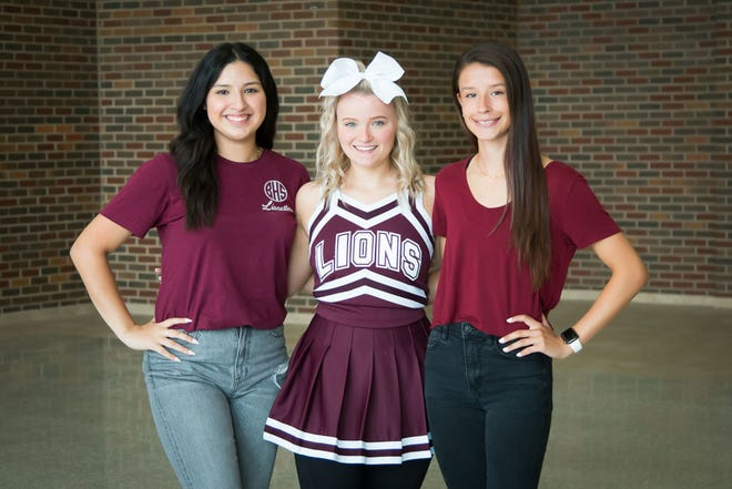 Brownwood High School homecoming queen candiates are Brianna Garcia, Berkeley Britton and Naysa Leach. The queen will be crowned during half-time of Brownwood's game with Burnet Friday night at Gordon Wood Stadium.