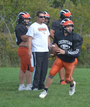Senior quarterback Henry Stempky and the Cheboygan varsity football team suffered a loss at Grayling on Friday.