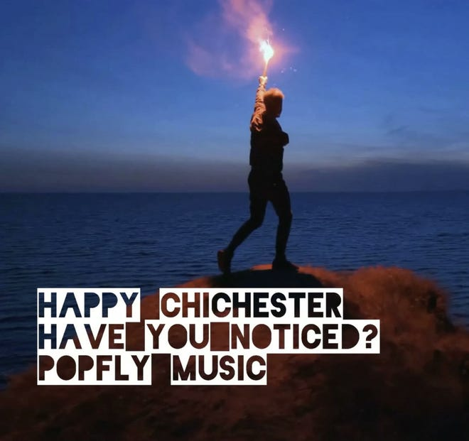 """Cover art for Happy Chichester's new single, """"Have You Noticed?"""""""