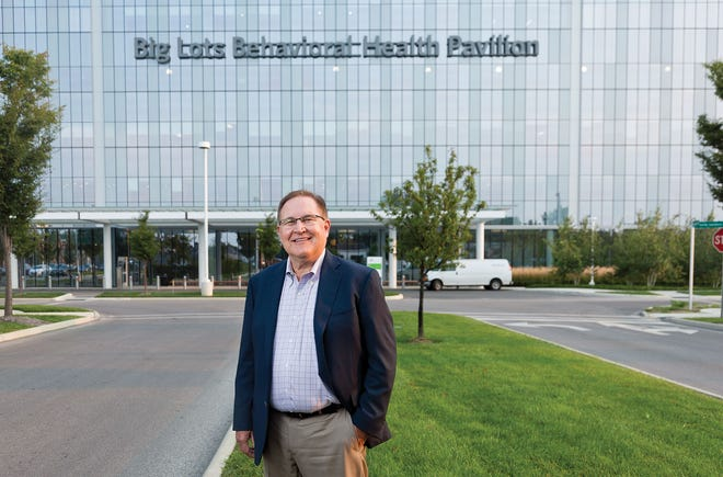 Nationwide Children's Hospital CEO Tim Robinson photographed in front of the Big Lots Behavioral Health Pavilion on Monday, September 13, 2021.