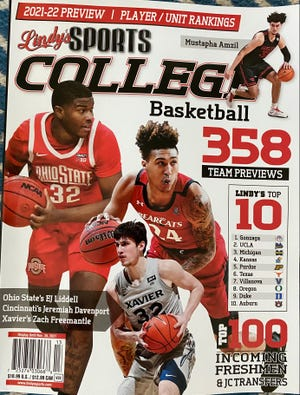 Ohio State's E.J. Liddell features on a regional cover of Lindy's annual college basketball preseason magazine.