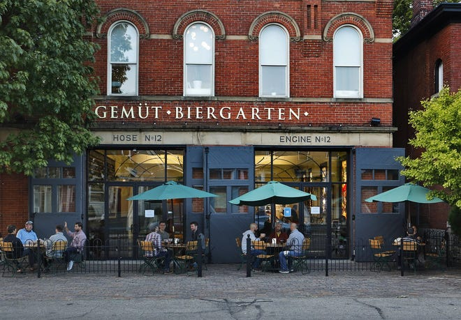 Gemut Biergarten, in Olde Towne East, won a bronze medal at the Great American Beer Festival in Denver for its Golem Czech Pils.[Eric Albrecht/Dispatch]