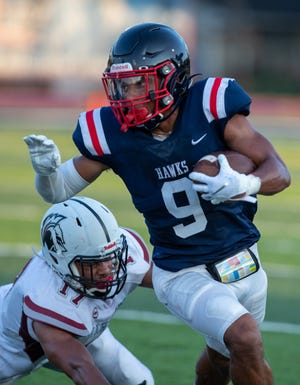 Senior Trey Saunders has become one of Hartley's most important players, making key contributions in the running and passing games and on defense and special teams.