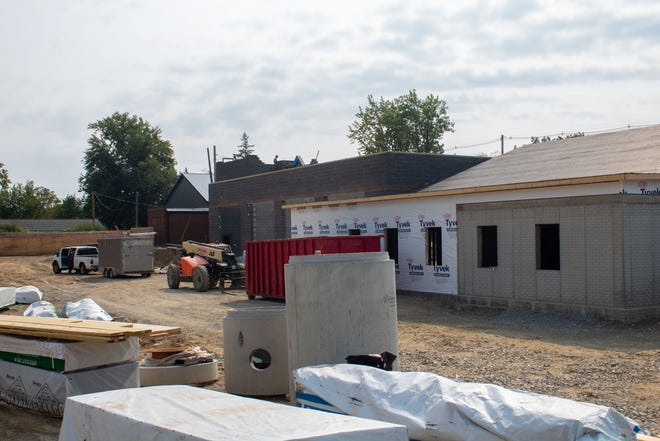 Construction on Kidron Volunteer Fire Department's new station is well underway.