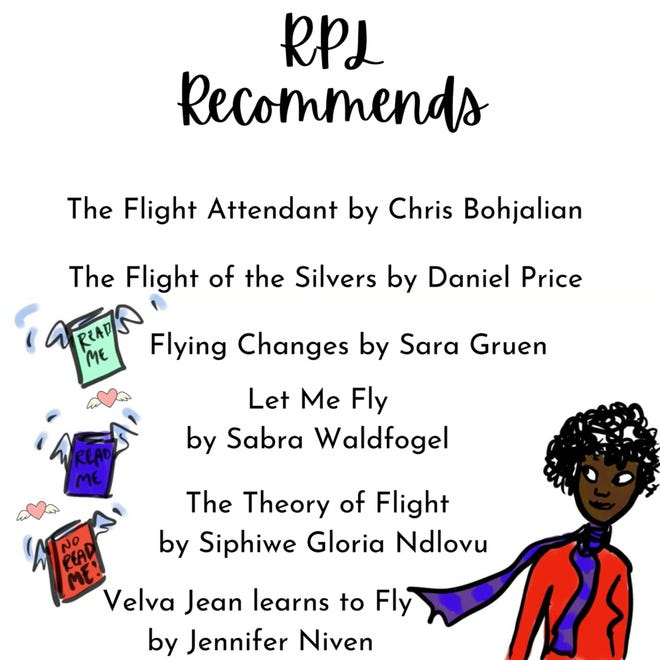Rochester Public Library recommendations for flight books