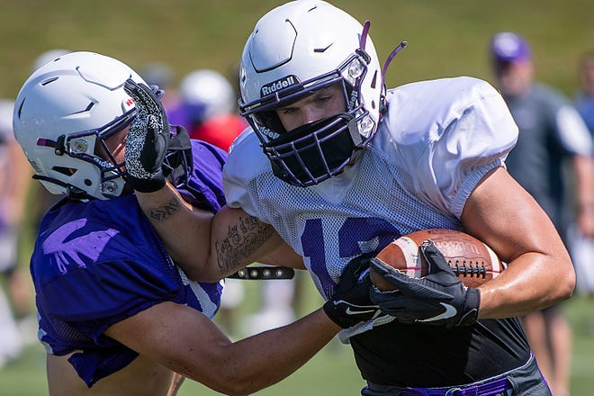 Photos from Knox College football practice on Monday, Aug. 23, 2021 at the Knosher Bowl.