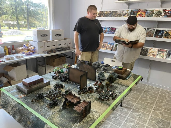 The battlefield was set at The Box as players participated in a Warhammer tournament.