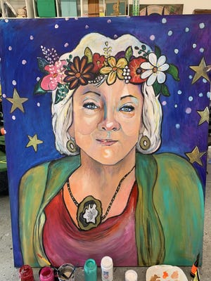 Dr. Paula Whitman's portrait was painted by local artist Betzi Lievens.