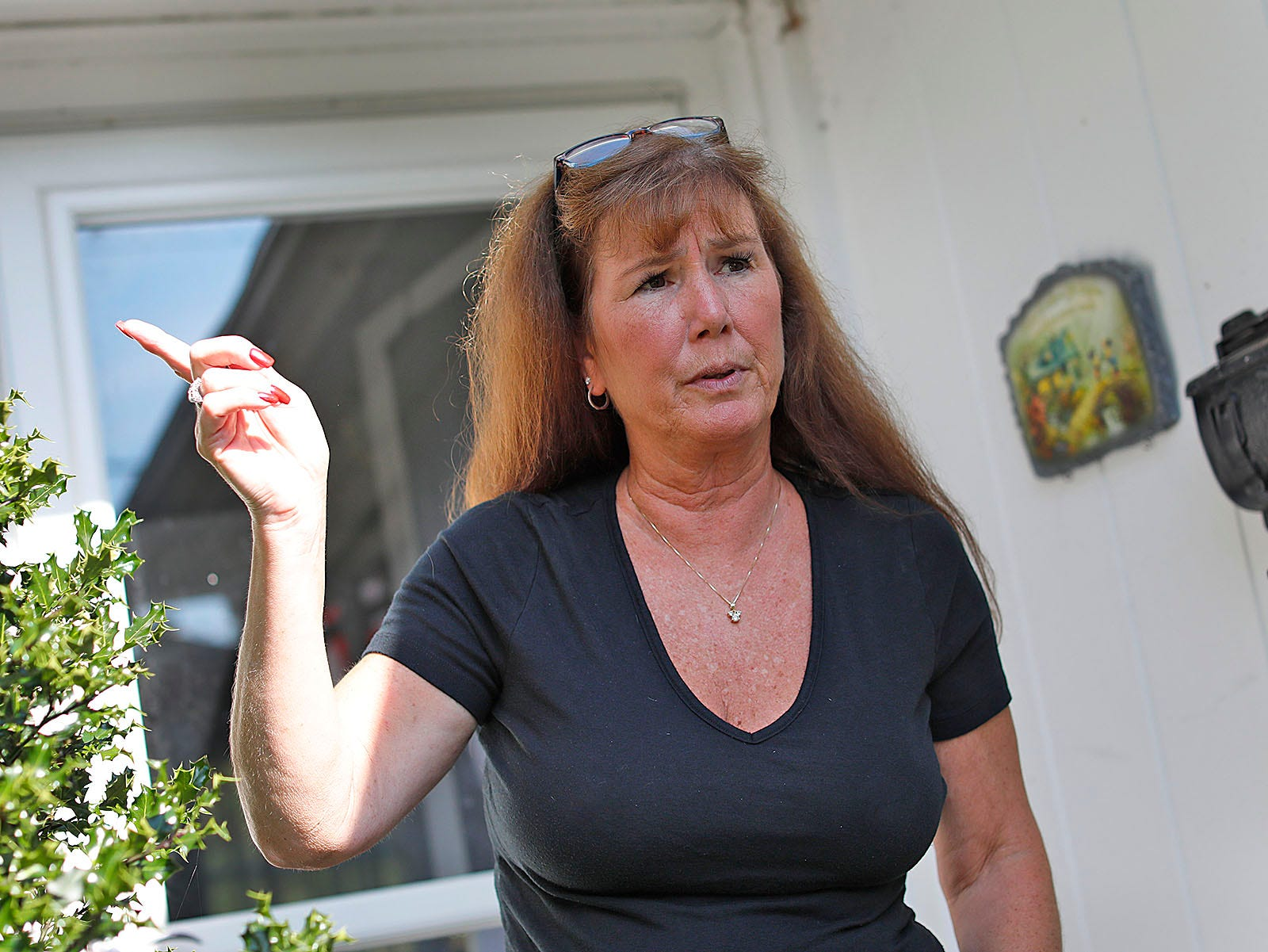 Russell Park resident Liz Brown talks about proposed development in the Quincy neighborhood on Monday, Sept. 13, 2021.