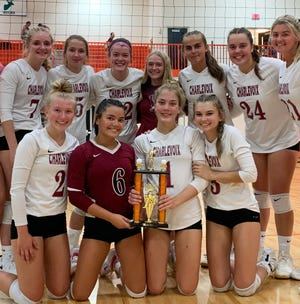 Charlevoix volleyball improved to 19-1-1 overall on the season with a 7-0 day in a Manton hosted tournament on Saturday.