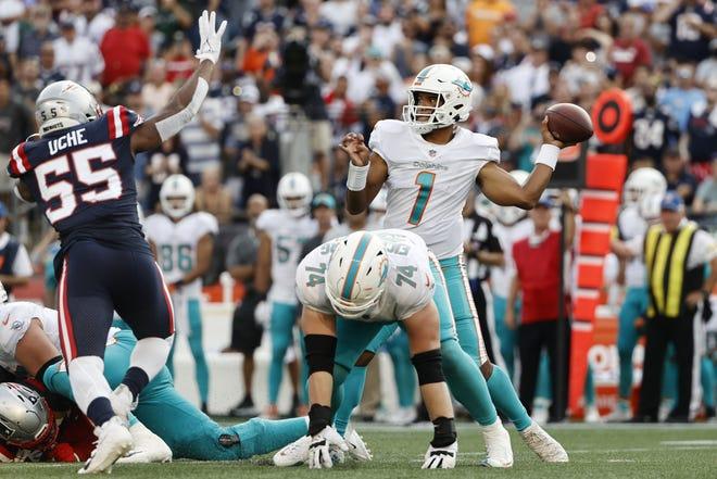 Dolphins quarterback Tua Tagovailoa is 2-0 against Patriots coach Bill Belichick.