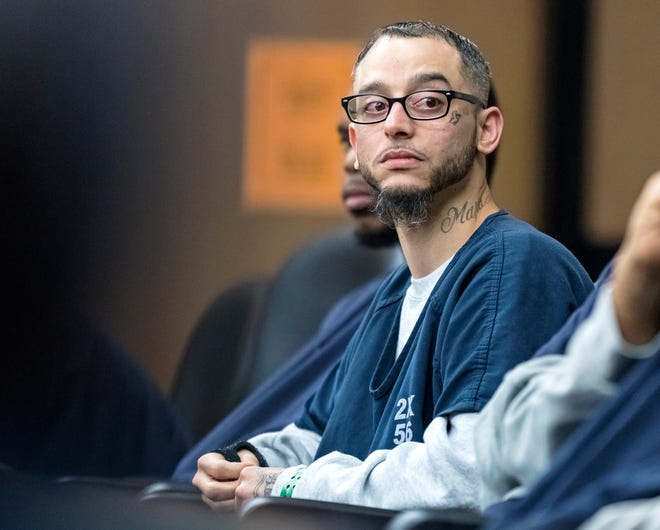 Jose Manuel Miranda, Jr., accused of fatally shooting Woodley Erlias in Lake Worth in 2015, appears in court Friday, January 17, 2020.  [LANNIS WATERS/palmbeachpost.com]
