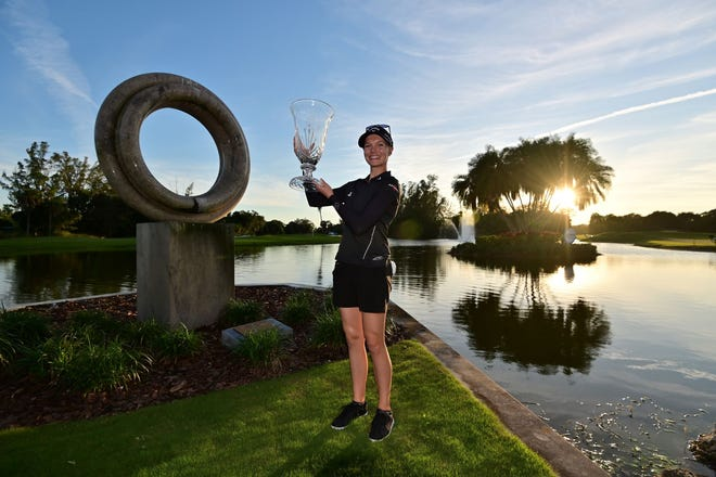 Madelene Sagstrom won the 2020 Gainbridge LPGA tournament at Boca Rio.