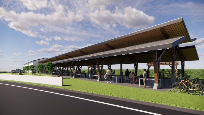An artist's rendering of the plans for Plaquemine Depot Square.