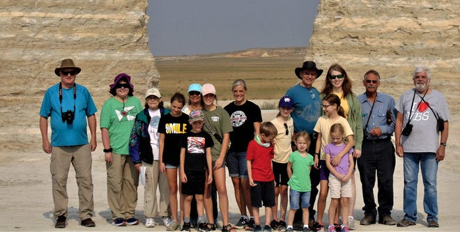 """In August this year, Dr. Simmons and his wife lead a group visiting various sites of interest in South Dakota, a group comprising 16 people from Wichita who wanted to come out to it, a big group with families and children. This """"Ice Age"""" trip to South Dakota is one they generally do every other year."""