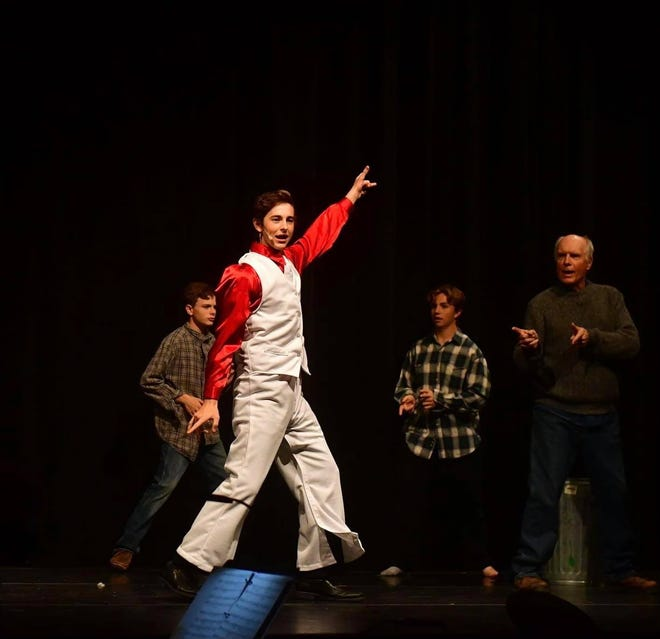 Dawson Malone rocks a triple-breakaway costume during 'Sister Act' this past Saturday and Sunday during the Pratt High School musical.