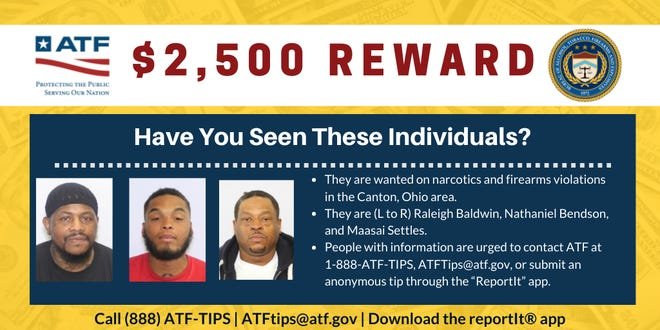 Two of the three wanted men have been arrested, according to authorities.