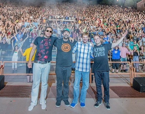 The Disco Biscuits take the stage at the St. Augustine Amphitheatre Friday, Sept. 17, as part of the annual Sing Out Loud Festival.