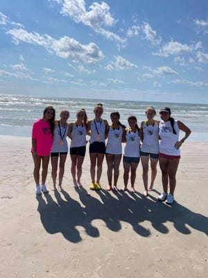 The Stephenville High School varsity girls cross country team took third place on Saturday at the Port Aransas Invitational.