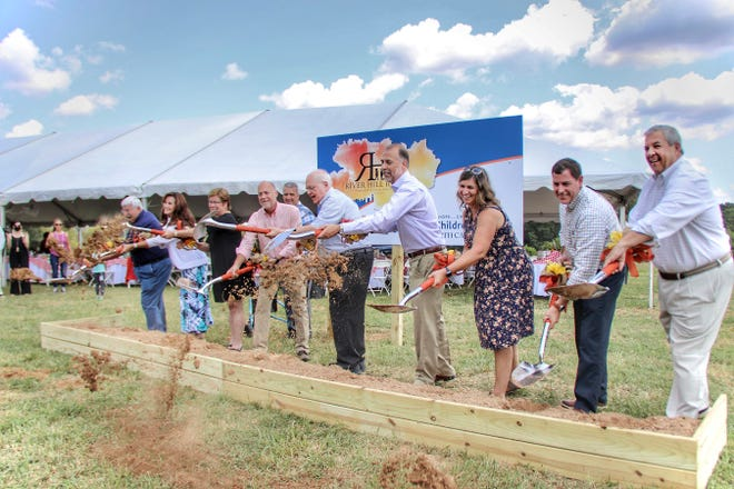 (From left) Doug Bridges, Dana Dixon, Nancy Hall, Wes Westmoreland, Michael C. Blackwell, Jay and Scarlett Westmoreland, Rit Varriale, and John Butler participated in a ground breaking ceremony.