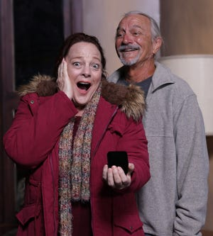 """Lisa Hamilton and Daniel Cole are among the nine actors featured in the Venice Theatre production of """"Almost, Maine,"""" by John Cariani."""