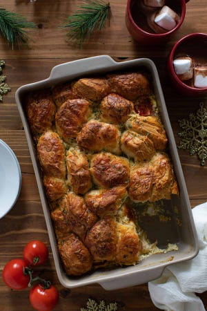 This breakfast strata is perfect for when you have company for breakfast.