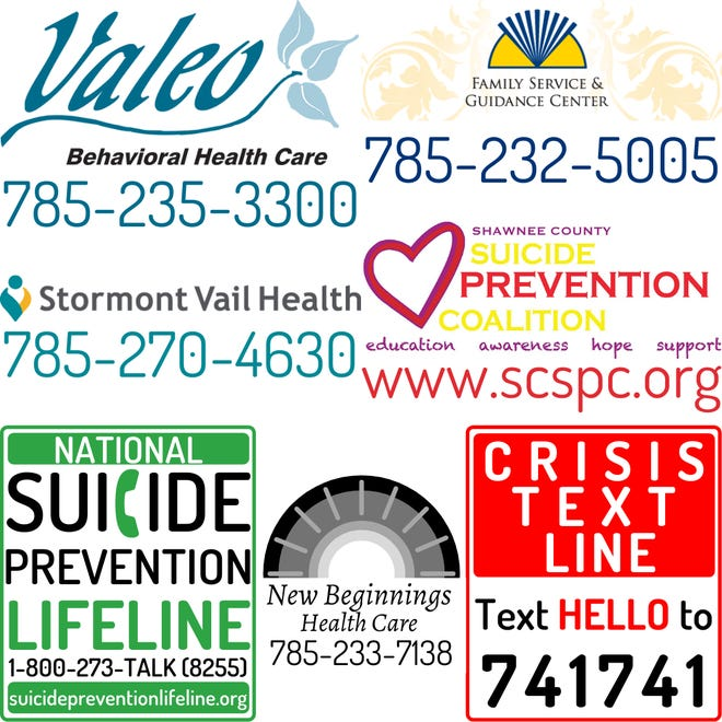 The Shawnee County Sheriff's Office put this graphic on its Facebook page showing contact information for some of the places people can go in times of crisis.