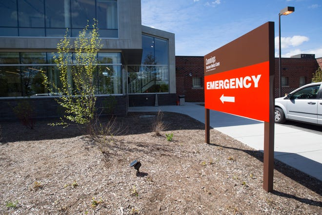 The emergency room entrance to Henry and Lois Foster Hospital for Small Animals at the Cummings Veterinary Medical Center atTuftsUniversity in Grafton. The emergency center is no longer accepting animals in need of critical care.