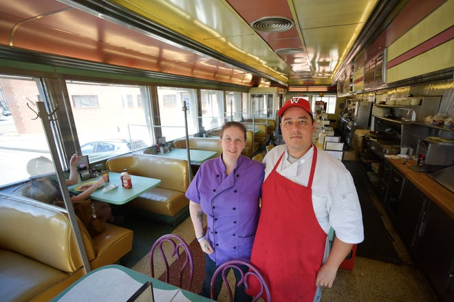 Jennie and Joshua Plahm, new owners of the Corner Lunch on Lamartine Street in Worcester.