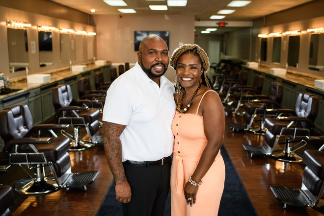 Keith and Shintrell White started Global Vision Barber College in an effort to share their passion for hair with their community. 'What's unique about our school is that as soon as you enter into the program, we have you already beginning, learning how to cut hair, first day,' Keith said.