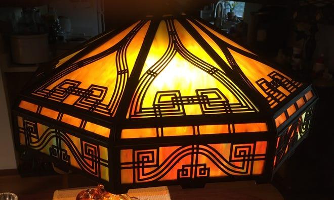 A Bradley & Hubbard lampshade.
