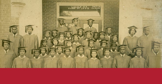 This is a picture of the 1938 graduating class of Lincoln High School in Gainesville whose principal was the late A. Quinn Jones Sr., the first and longtime principal of the beloved former all-black high school that closed during the desegregation era. A program will be held Sept. 23 sponsored by the A. Q. Jones Museum and Cultural Center and the Matheson History Museum to honor Jones and the role Black education has played in the advancement of Blacks locally and throughout the U.S.