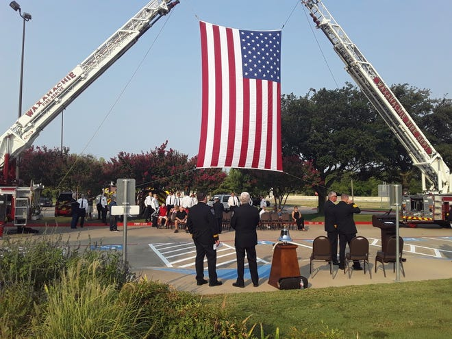The Waxahachie fire and police departments hosted a remembrance ceremony Saturday on the 20th anniversary of the Sept. 11 terrorist attacks.