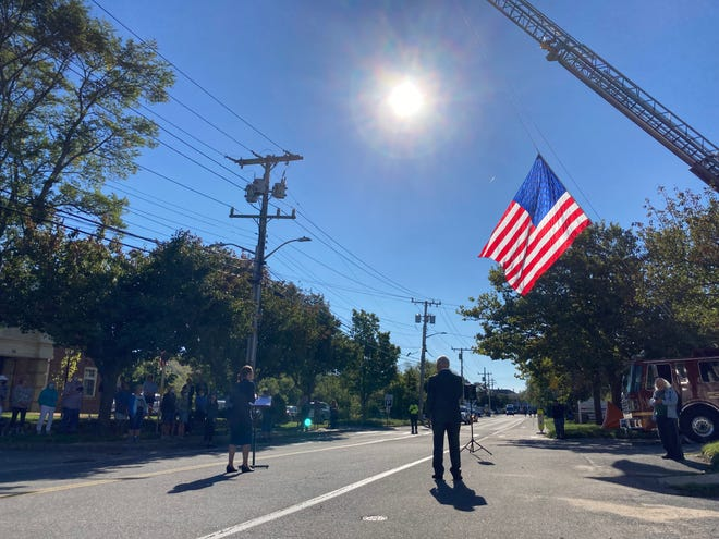 Singer Denise Page opened the 9/11 commemoration on Sept. 11 in Provincetown with the national anthem.